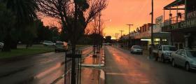 'Merredin's gateway to a Wheatbelt sunset' - Ellie Downsborough (12 yrs)